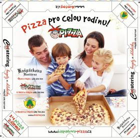 Krabičky - Krabice na pizzu Kašpárkova pizza