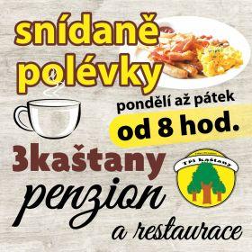 Letáky reference - Snídaně leták 3kaštany
