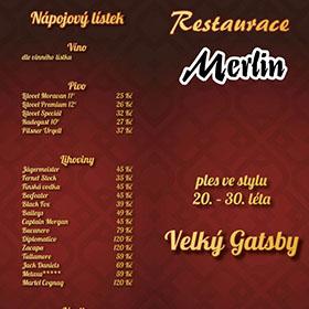 Letáky reference - Jídelní lístek Merlin
