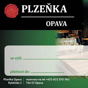Dárkové poukazy - Dárkový poukaz Plzeňka Opava