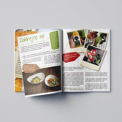 Tisk katalogu, brožury, návodu, výsledný rozměr A5 - 40 stran
