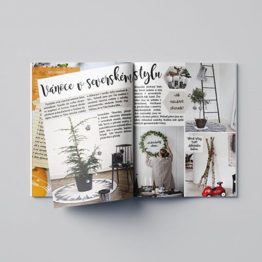Tisk katalogu, brožury, návodu, výsledný rozměr A5 - 48 stran