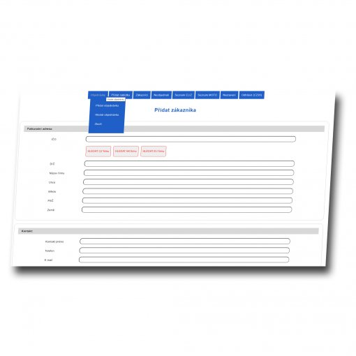 Tvorba objednávkového systému, evidence zakázek