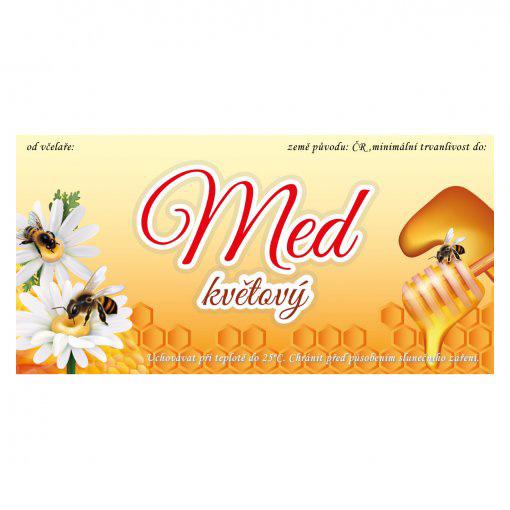 Tisk samolepky na med pastovaný
