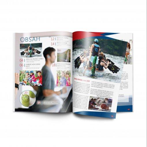 Tisk katalogu, brožury, návodu, výsledný rozměr A4 - 16 stran
