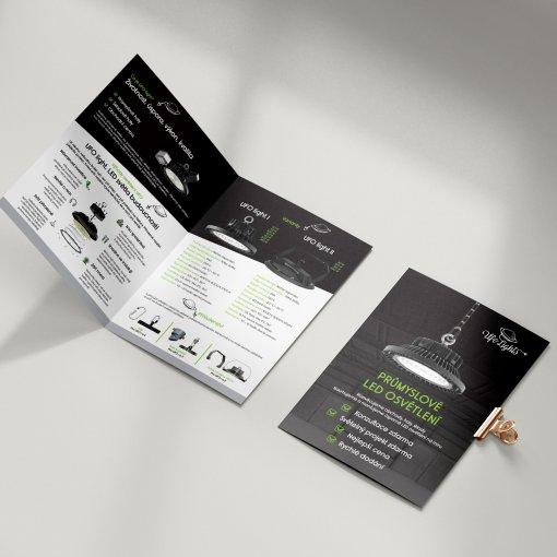 Tisk katalogu, brožury, návodu, výsledný rozměr A5 - 4 strany