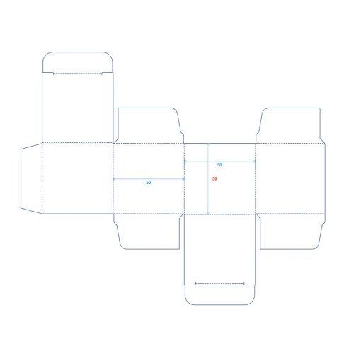 Výroba a tisk krabičky o rozměru 50x50x50 mm