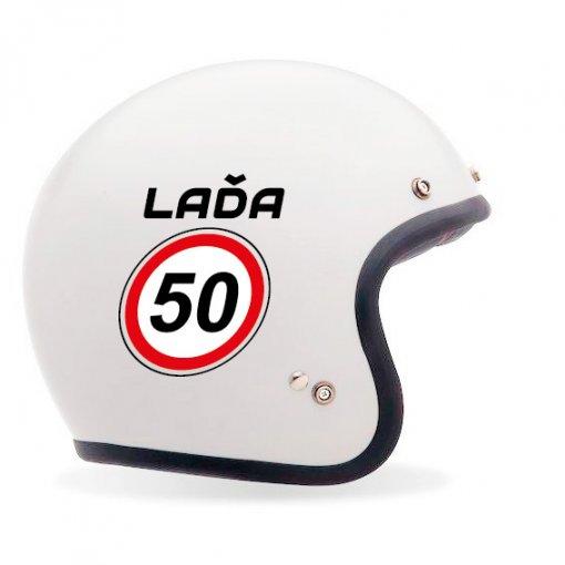 Tisk plastové samolepky na helmu