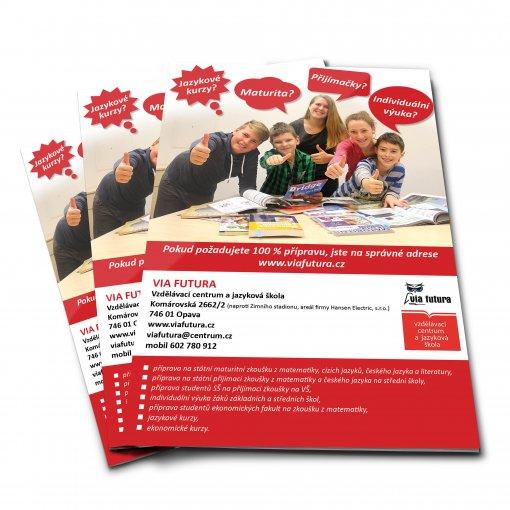 Tisk katalogu, brožury, návodu, výsledný rozměr A6 - 4 strany