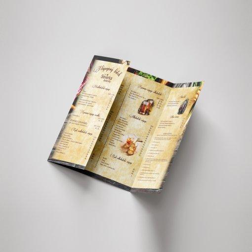 Tisk jídelního lístku