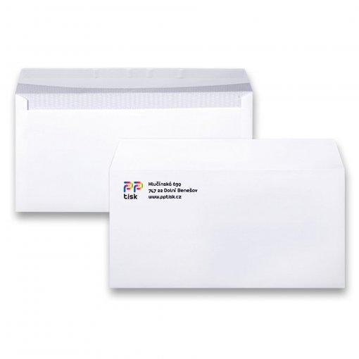 Potisk dopisní obálky DL