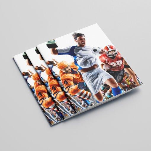 Tisk katalogu, brožury, návodu, výsledný rozměr A6 - 36 stran
